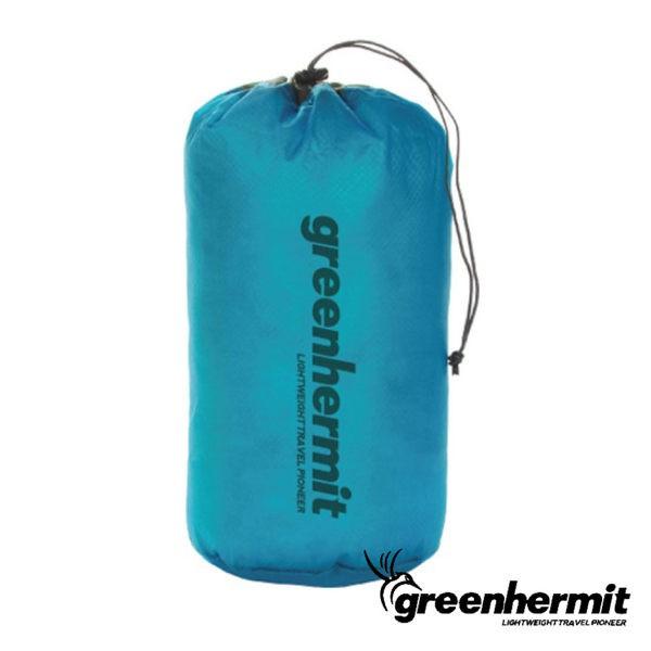 GREEN HERMIT 蜂鳥 超輕防潑水束口袋15L-瓦藍 旅行收納袋 打工度假 戶外 OD3115