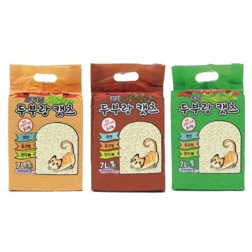 韓國豆腐貓 天然豆腐貓砂豆腐砂7L【單包】多款可選/每包約2.5kg『WANG』