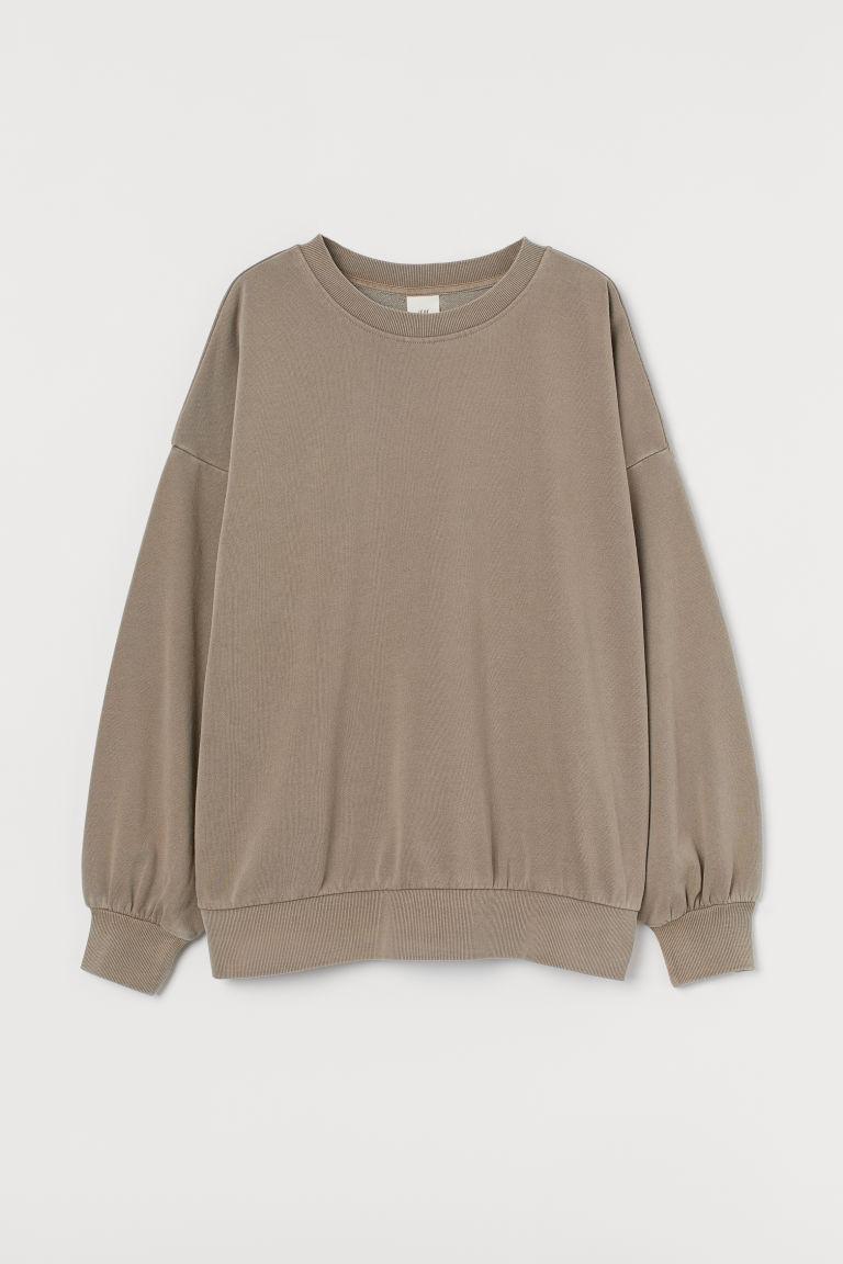 H & M - 休閒剪裁運動衫 - 褐色