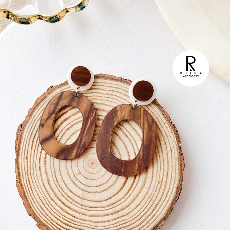 RIISA梨衣莎微涼咖啡經典焦糖設計耳環-26