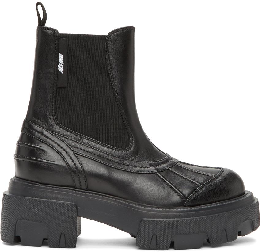 MSGM 黑色 Pull-On 踝靴