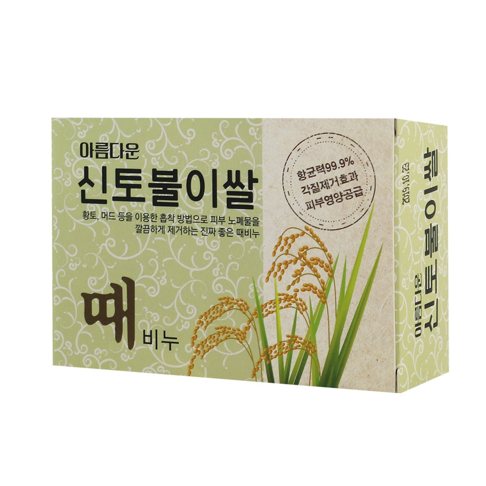 韓國Sungwon仙女去角質搓仙皂100g-大米【佳瑪】