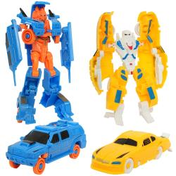 車子變形機器人模型玩具車車玩具2款1組 500322【卡通小物】