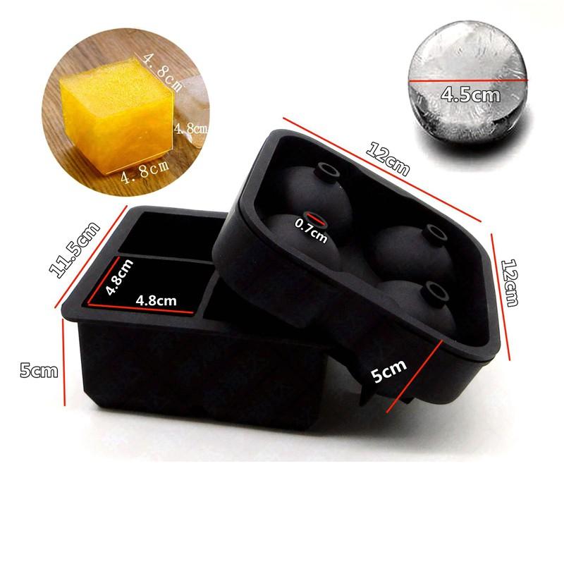 4圓球 + 4方塊 威士忌冰塊模具 【Lifeshopping】【台灣現貨】 大冰塊 大冰球 製冰盒 夏天喝威士忌必備