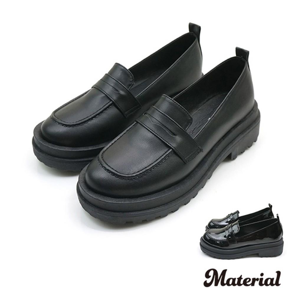 厚底鞋 簡約復古樂福鞋 MA女鞋 T1891