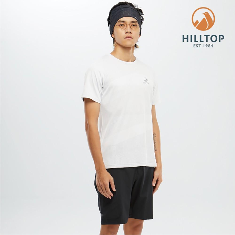 【hilltop山頂鳥】男款吸濕快乾Polygiene抗菌T恤 S04MD2 科技灰