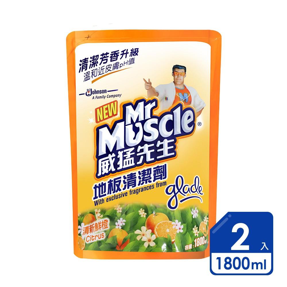 威猛先生 地板清潔劑 1800ml(補充包裝)|2入組
