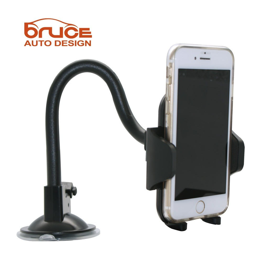 BRUCE 蛇管玻璃吸盤(29cm/19cm)手機架