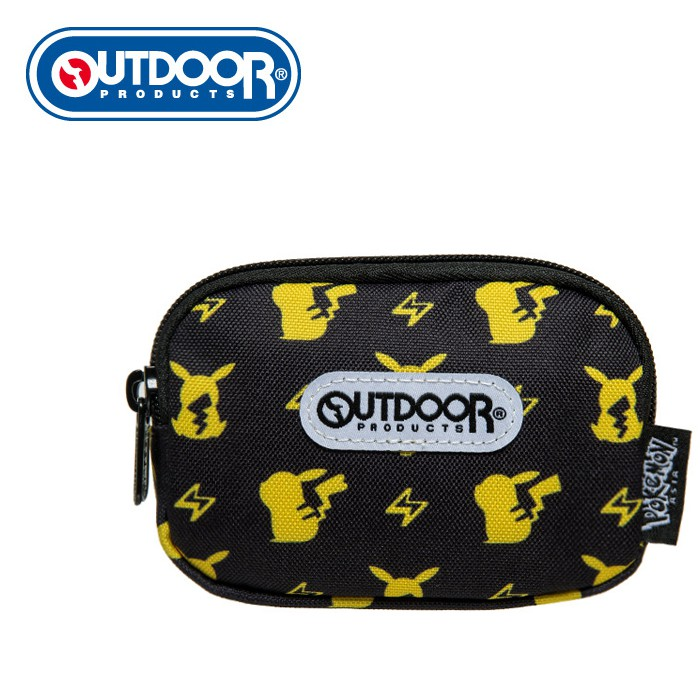 OUTDOOR Pokemon聯名款潮黑皮卡丘雙拉鍊零錢包-黑色 ODGO20B11BK 零錢包