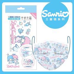 【Beauty小舖】三麗鷗口罩組-KiKiLaLa 藍(10入/盒)- 符合CNS 14774國家檢驗標準