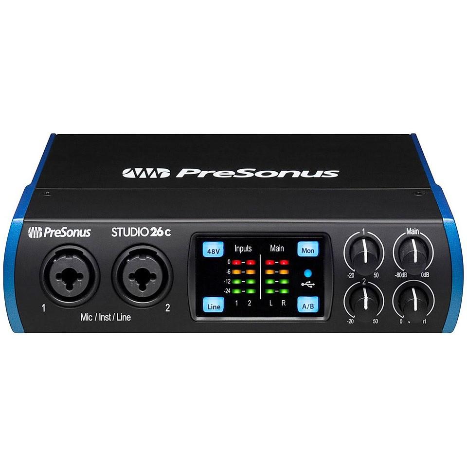 Presonus Studio 26C USB錄音介面 總代理公司貨