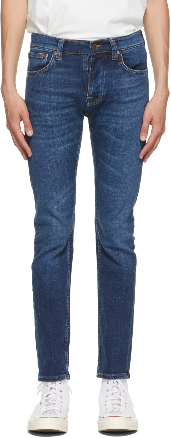 Nudie Jeans 蓝色 Grim Tim 牛仔裤