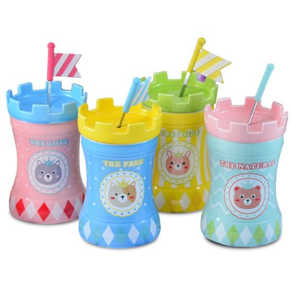 【堯峰陶瓷】色釉城堡 創意蓋杯 環保杯 花器 筆筒 4色 限量倒數 單入