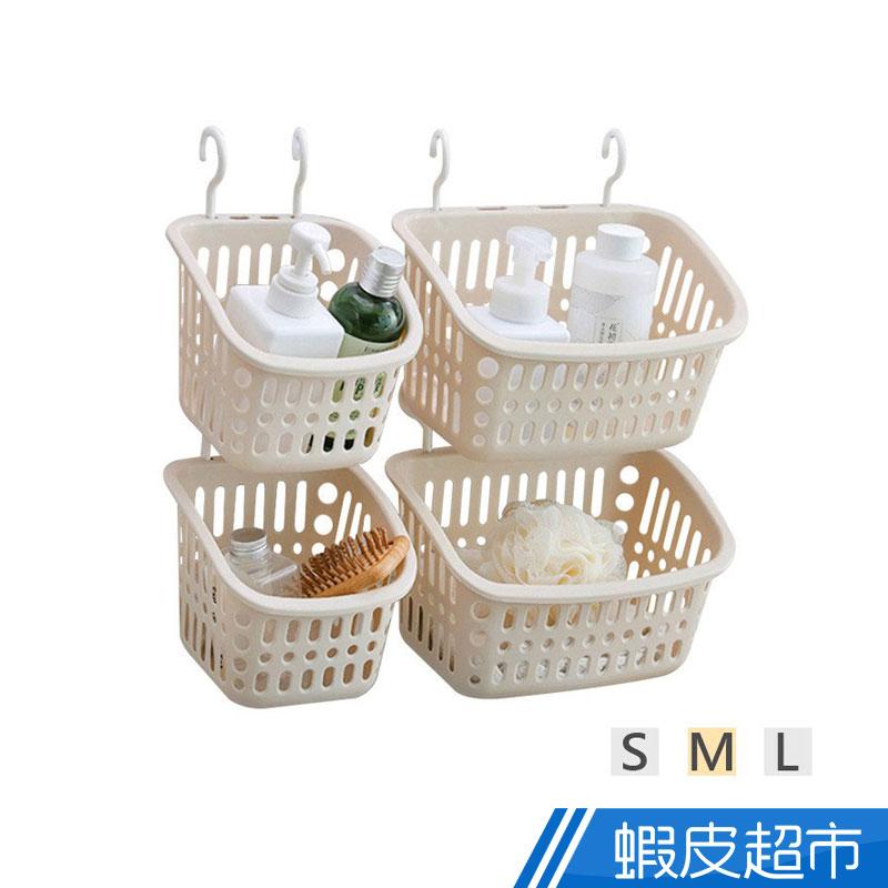 日式 可疊加浴室掛籃 免打孔 收納籃 吊掛收納籃 廚房收納 瀝水籃 置物籃  現貨 蝦皮直送