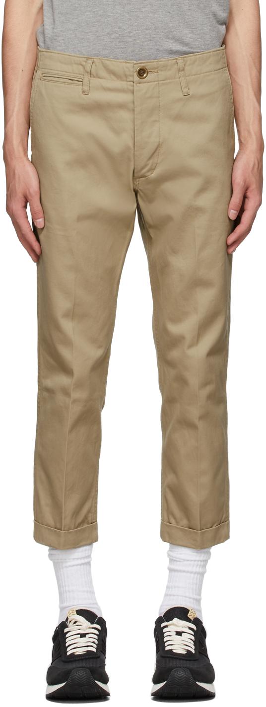 Visvim 驼色 High Water Chino 长裤