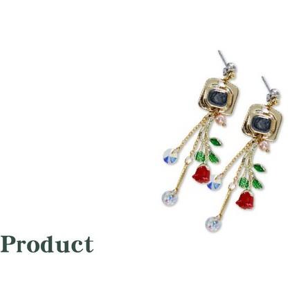 【滴油紅色玫瑰花】DIY 珠子 串珠 項鍊 手鍊 耳環 手作商品 自創商品 批發 玫瑰花 金屬 飾品配件 吊墜 最便宜