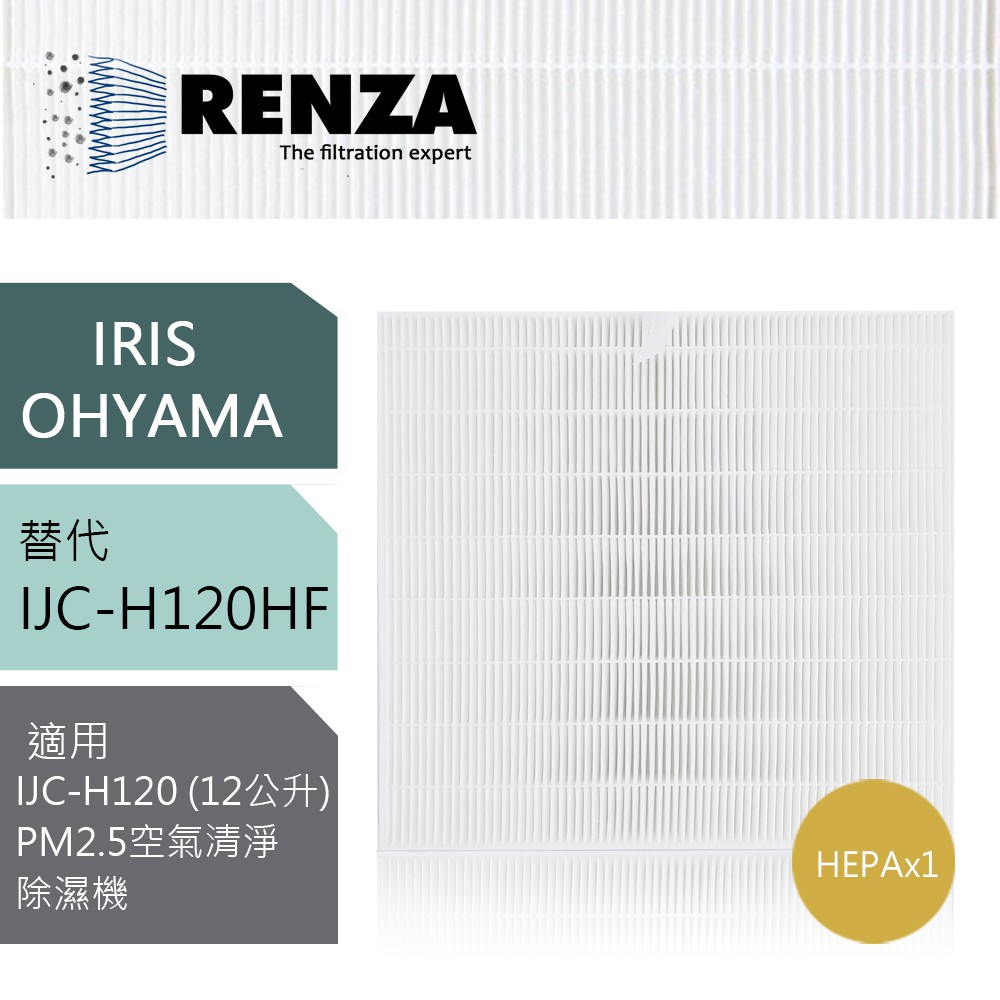 IRIS OHYAMA 適用濾網  IJC-H120 12L-12公升 愛麗思歐雅瑪 PM2.5空氣清淨除濕機 HEPA