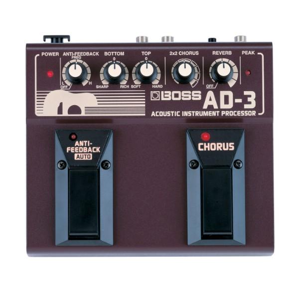 BOSS AD-3 空心吉他效果器【殘響/和聲/木吉他模擬/AD3/雙踏板】【宛伶樂器】