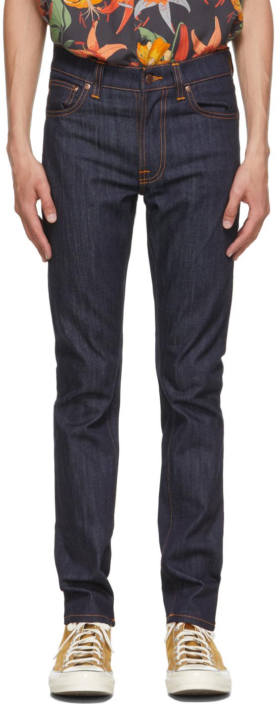 Nudie Jeans 海军蓝 Lean Dean 牛仔裤