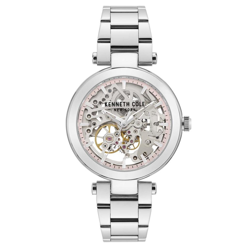 KENNETH COLE 紐約設計精品錶 KC50799001 鏤空設計機械錶 不鏽鋼錶帶 經典時尚女錶 原廠 廠商直送