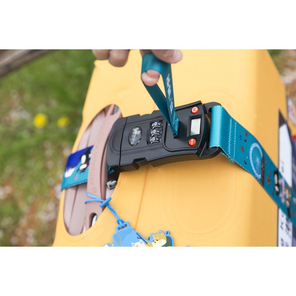 柴犬大學-帶著柴犬去旅行 行李束帶 三合一 電子秤 密碼鎖