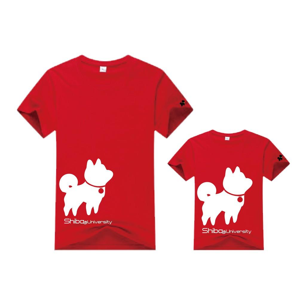 叮噹柴校服(紅) 中性T恤 情侶裝 文創設計 柴粉必備《柴犬大學》
