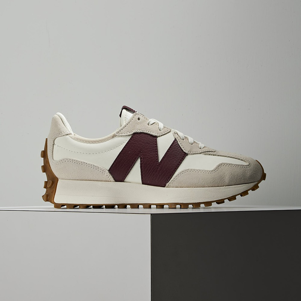 New Balance 327 男女 酒紅 復古 皮革 慢跑 休閒鞋 WS327KA