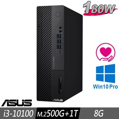 ASUS M700SA 薄型商用電腦 i3-10100/8G/M.2-500GB+1TB/W10P