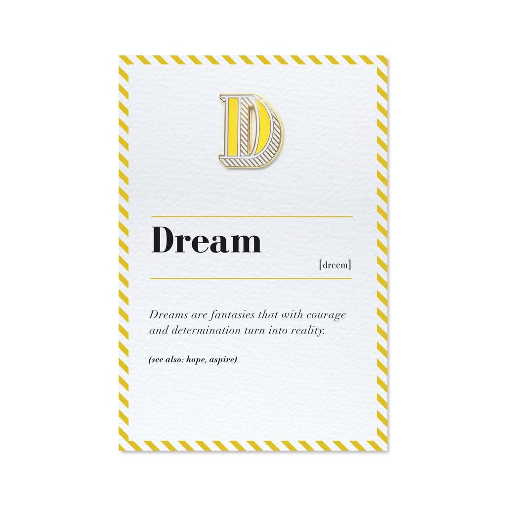 【 D / Dream 】琺瑯徽章字母飾品卡