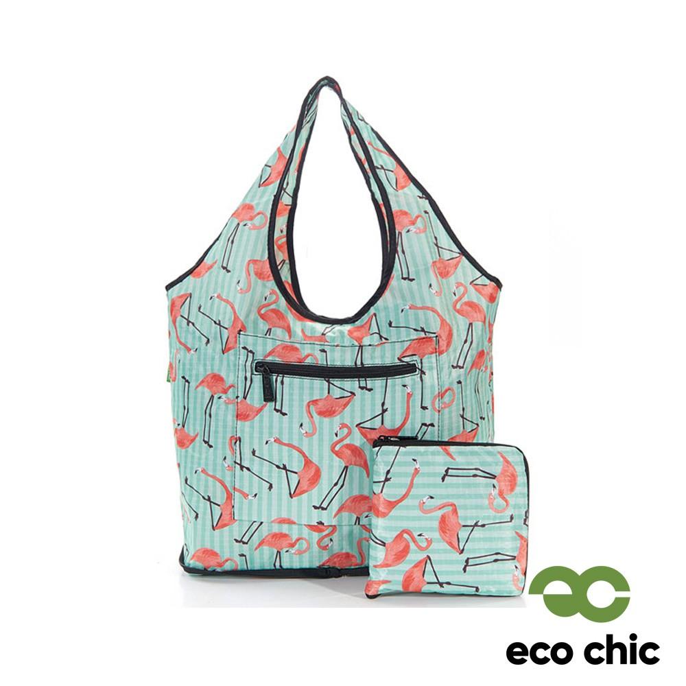 【英國ECO CHIC】時尚折疊休閒袋-紅鶴