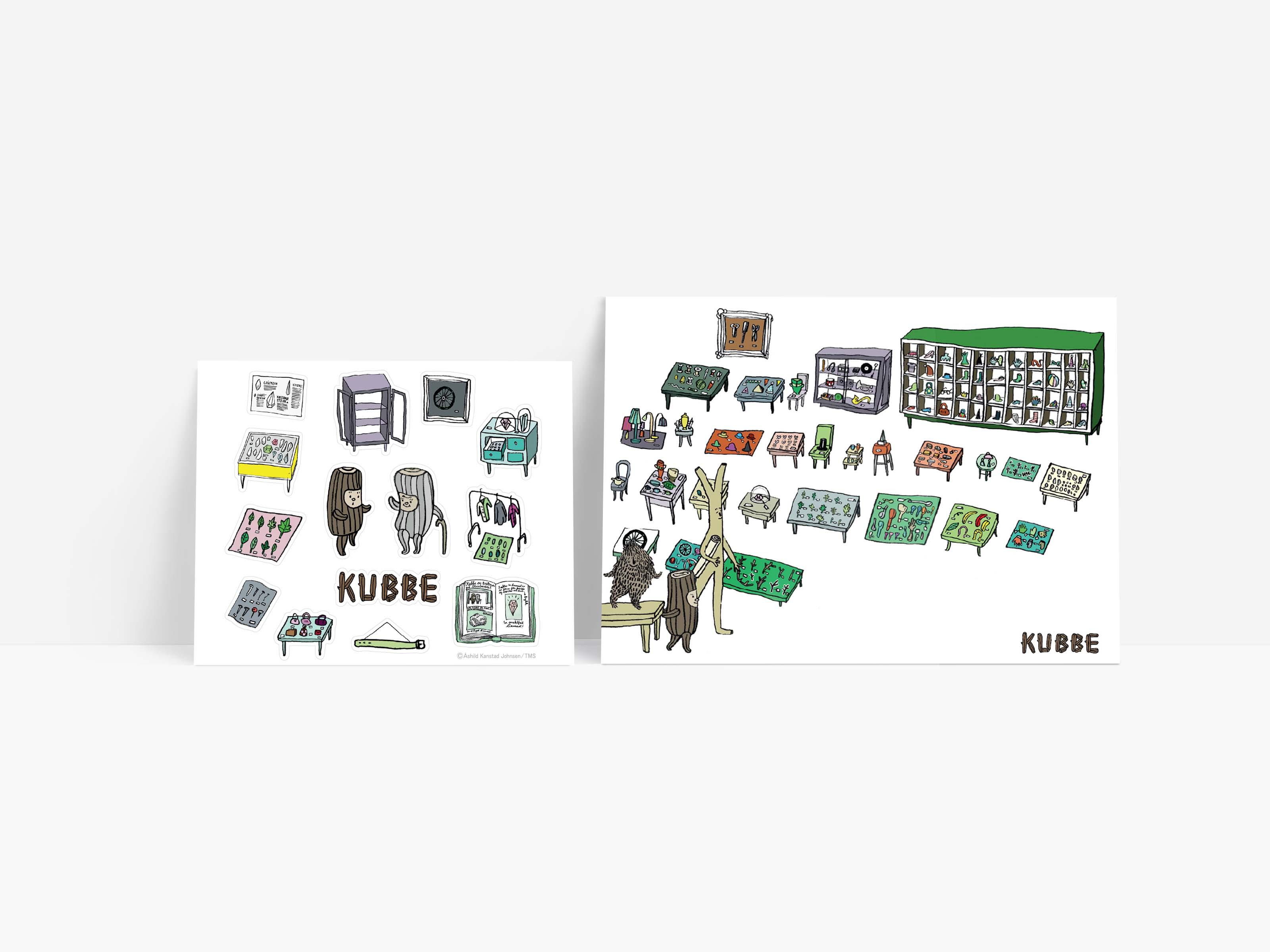 《酷比KUBBE》明信片貼紙組-博物館
