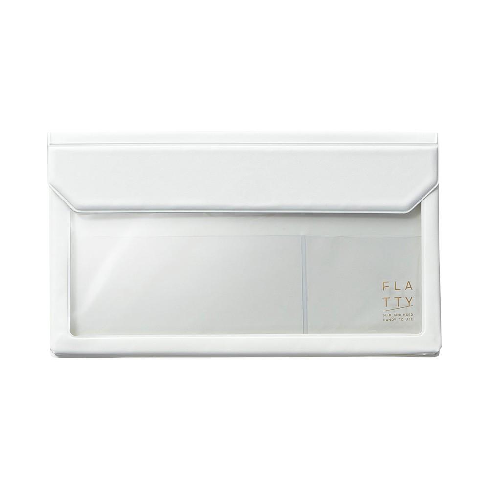 【KING JIM】5362 FLATTY 白色 多用途收納袋(信封尺寸)