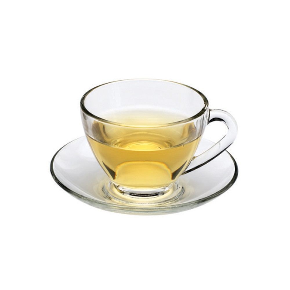 【Ocean】Cosmo花茶杯盤組230ml《拾光玻璃》 茶杯 玻璃杯 盤
