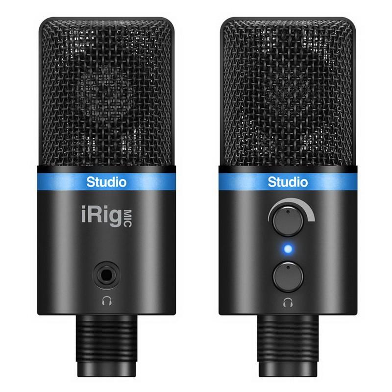 IK Multimedia iRig Mic Studio 專業級 大震膜 電容式 麥克風 [唐尼樂器]