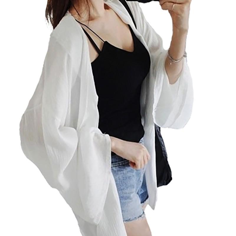 BANG 夏季防曬外套 薄外套 防曬外套 雪紡 罩衫 防曬衣 百搭 外套 沙灘 海邊【GJ02】