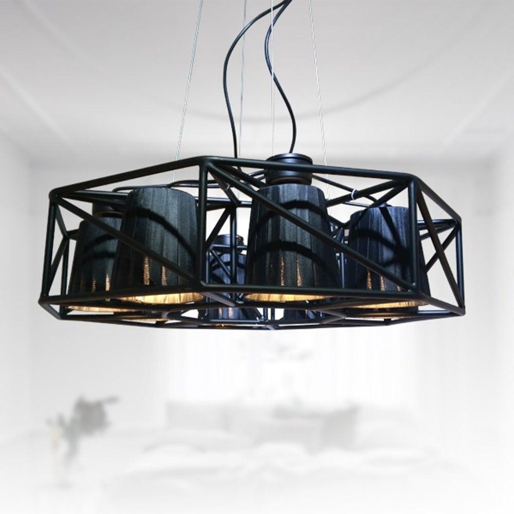 黑色旋風8燈造型吊燈(PO12001)/H&D東稻家居-618購物節