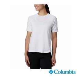 Columbia 哥倫比亞 女款 - 防曬50快排短袖排汗衫-白色 UAR23690WT