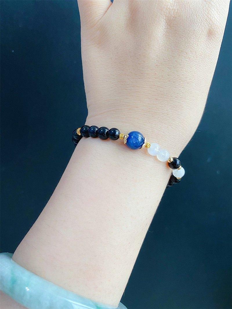 黑曜石 藍晶 翡翠 設計款 手鍊 天然石 客製化 禮物 閨蜜 淨化