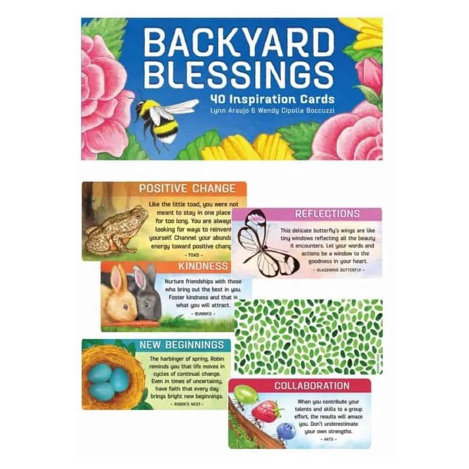 後院祝福啟發卡|Backyard Blessings,40個可愛的花園夥伴具有智慧的信息與祝福分享【左西購物網】