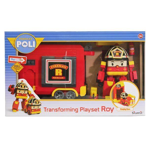 【Silverlit】LED變形羅伊手提基地 波力 救援小英雄 可愛造型 / 玳兒玩具