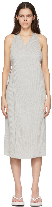 Baserange 灰色 Cleat 有机棉连衣裙
