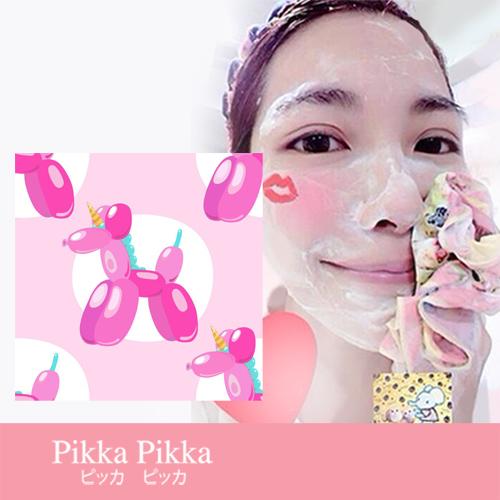 現貨 Pikka Pikka A88 氣球狗 林鴒 日本製 臉部毛孔潔淨布 洗臉布 花猴分享 熱賣中!