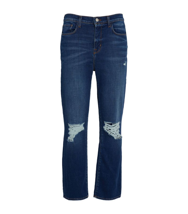 L'Agence Distressed Shane Straight Jeans