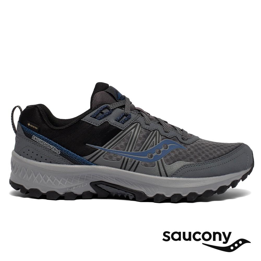 【Saucony】男 EXCURSION TR14 GTX 入門款全地型防水越野跑鞋 (炭灰黑-SCS20588-2)