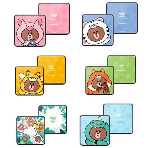 GARMMA 永橙 LINE FRIENDS 玻璃鏡面行動電源 叢林系列 【魔力電玩】