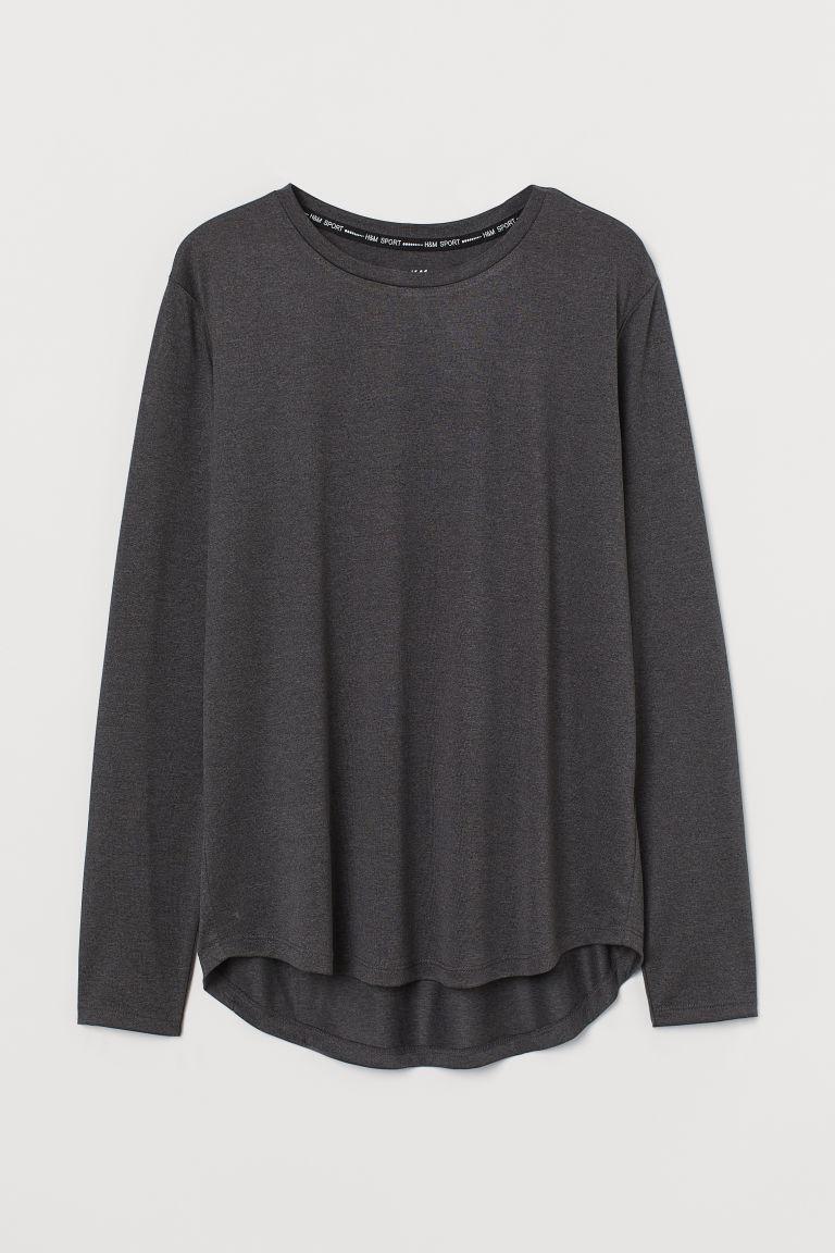 H & M - 運動上衣 - 黑色