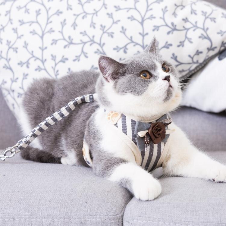佩貝樂貓咪牽引繩溜貓錬子繩子防掙脫專用貓繩背心式外出遛貓神器