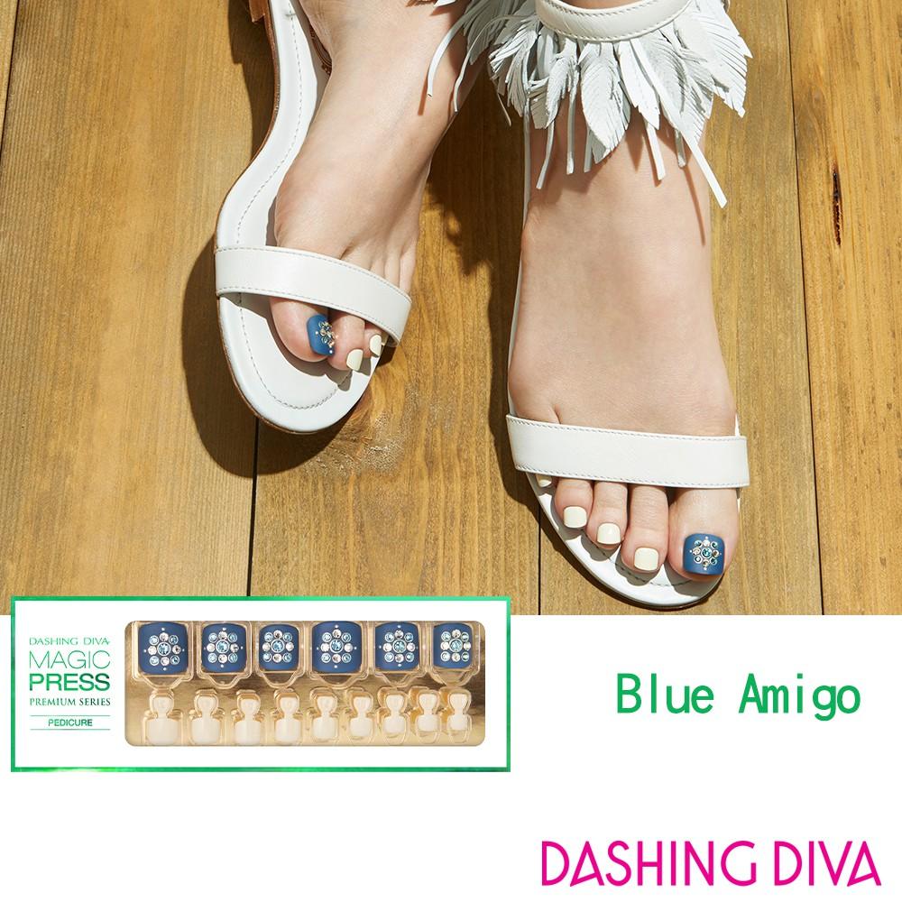 DASHING DIVA哈瓦那足部彩繪美甲片-Blue Amigo(MPR167PP)  美甲 光療 甲片 貼片 甲彩