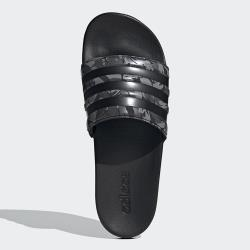 ADIDAS ADILETTE COMFORT 男鞋 拖鞋 休閒 柔軟 迷彩 黑 灰【運動世界】FZ1755