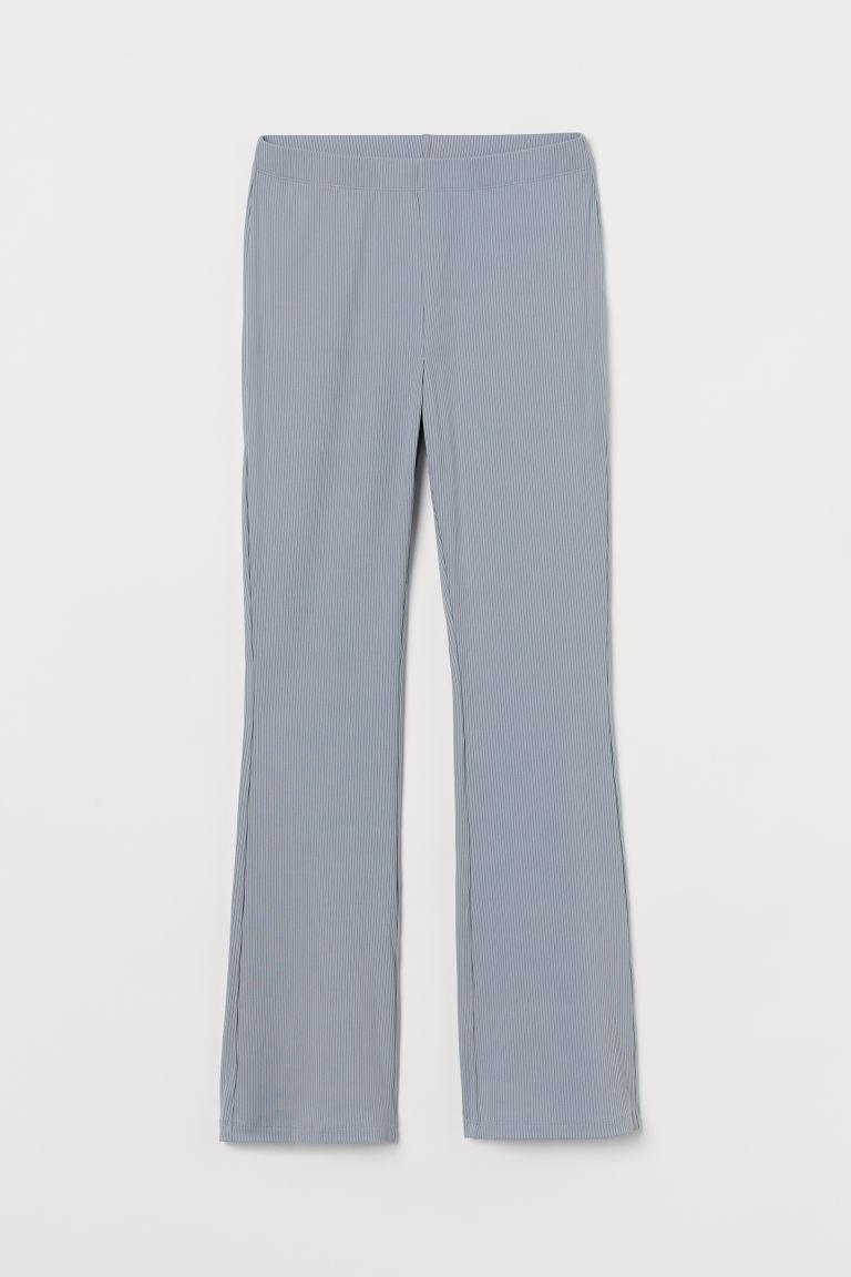 H & M - 羅紋爵士褲 - 灰色